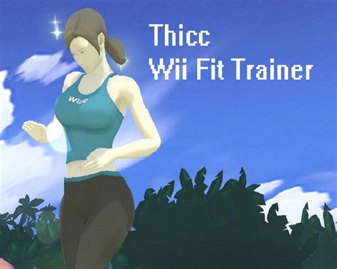 Wii Fit Trainer Meme - thicc wii fit trainer super smash bros for wii u gt skins
