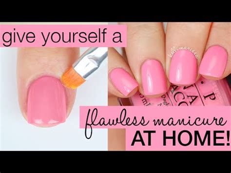 How To Decorate Nails At Home by How To Paint Your Nails Perfectly Salon Manicure At Home