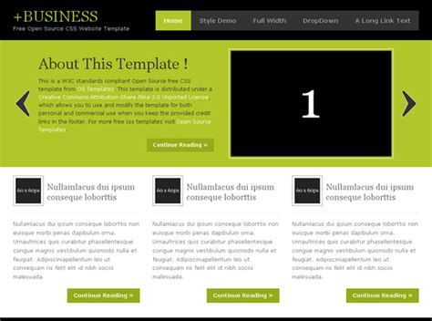 free business web templates web design 187 free xhtml css templates for different
