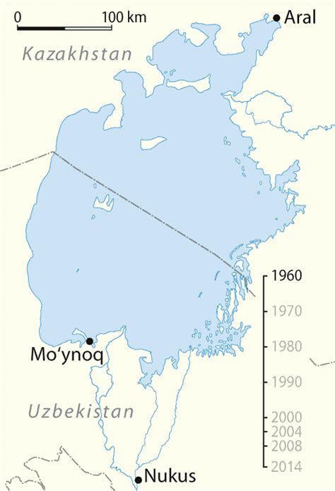 aral sea map timeline of the aral sea from 1960 to 2014 gif 560 x 819 mapporn