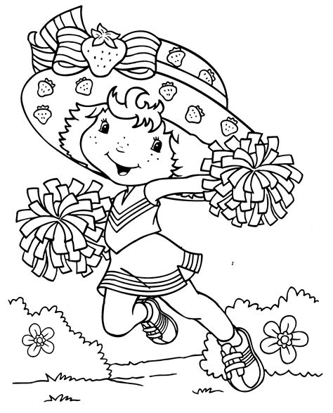 strawberry shortcake coloring pages free printable strawberry shortcake coloring pages for kids