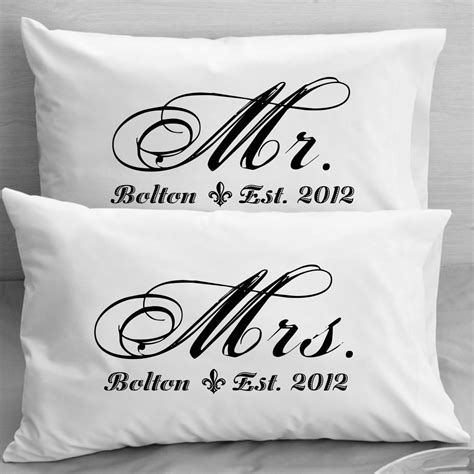 Mr Mrs Pillow Cases by Mr And Mrs Pillowcases Custom Personalized Husband
