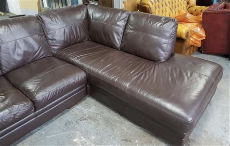 Rrp 163 1800 Dfs Brown Leather Corner Sofa We Deliver Dfs Brown Leather Sofa