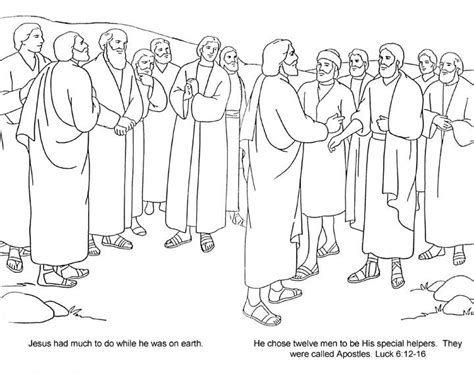 coloring pages jesus appears to the disciples bible 12 disciples 12 apostles jo