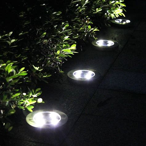 outdoor solar ground lights tomshine 4pcs 4 led solar lights outdoor ground lights