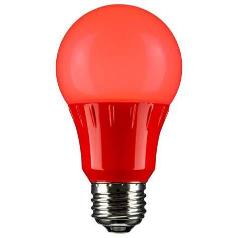 Pink Led Light Bulbs Led A19 120 Volt E26 Medium Base Light Bulb Not Dimmable For Use In Locations