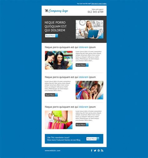 17 Best Editable Mailchimp Template Newsletter Images On Pinterest Email Newsletter Design How To Send A Template In Mailchimp