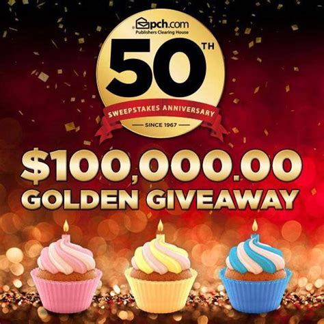 Spectrum Pch Com - pch 50th sweepstakes anniversary 100 000 golden giveaway sweepstakes pit