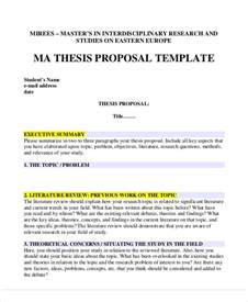 5 thesis proposal templates free sles exles