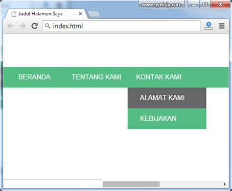 membuat menu dropdown cara membuat menu dropdown sederhana