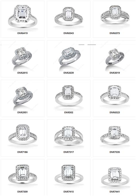 types halo emerald engagement rings