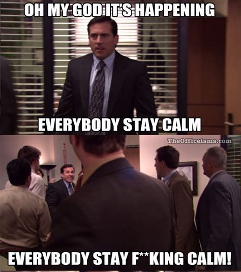 Remain Calm Meme - my exchange year in memes from the office skopje smiles