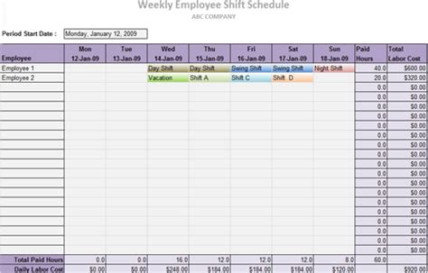 delivery schedule template excel schedule template free