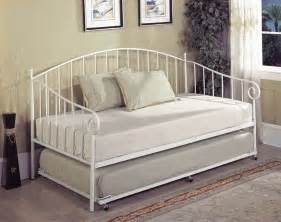 Day Bed Frame Bt01wh Series White Metal Size Day Bed Frame With Trundle