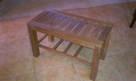 ipe shower bench ipe shower bench by dave lumberjocks com woodworking