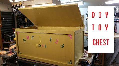 homemade toy chest diy toy box youtube
