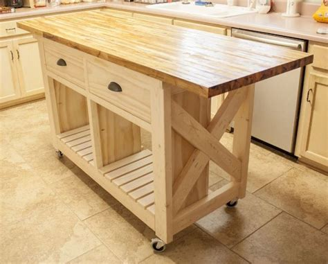 Small Mobile Kitchen Island Butcher Block Kitchen Island