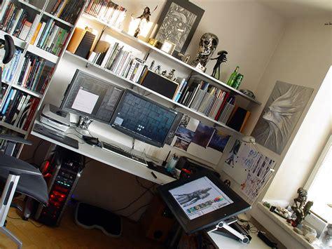 desk for digital artist wacom cintiq 24 hd by hunterkiller on deviantart
