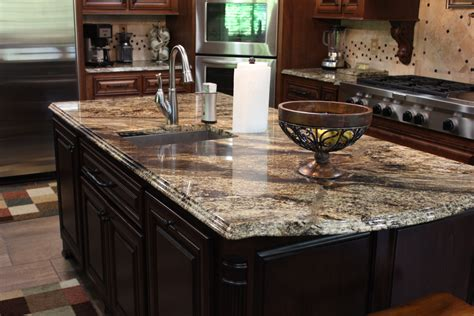 kitchen island with granite countertop granite kitchen counters and island cnc stonecrafters
