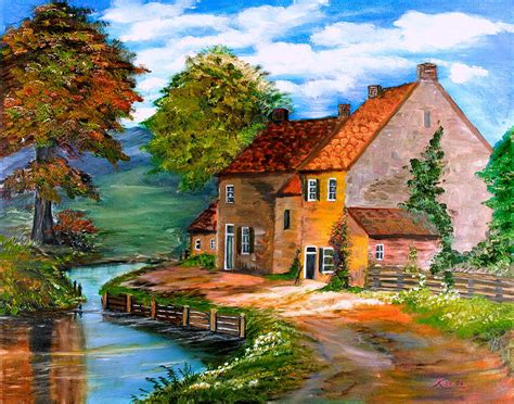 house paintings river house painting by kenneth lepoidevin