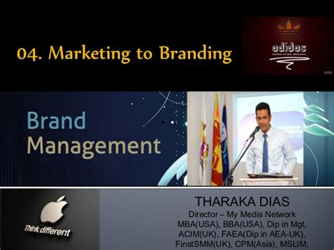 With Mba In Marketing Brand Management by 04 Marketing To Branding