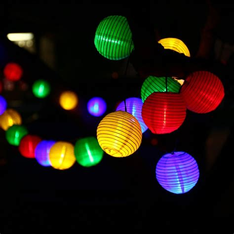 Awesome Bulk Led Christmas Lights #2: Lantern-Solar-String-Lights-Outdoor-Globe-Lights-30LED-Warm-White-Multi-Color-Fabric-Ball-Christmas-Lights.jpg