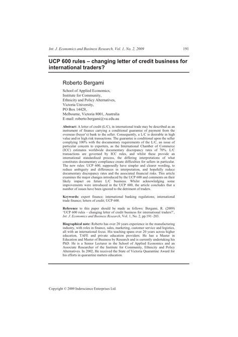 Letter Of Credit Ucp 600 Pdf ucp 600 changing letter of credit business for