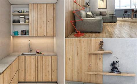 Panel Kayu Lantai interior rumah dengan bahan panel kayu