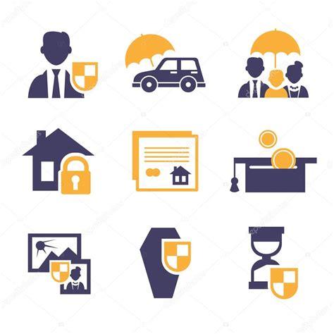 Insurance icons set — Stock Vector © TopVectors #76028711