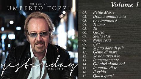 vasco greatest hits the best of umberto tozzi volume 1