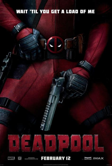 deadpool poster imax poster and promo for deadpool released