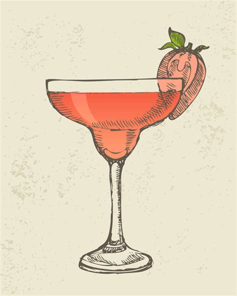 vintage cocktail vector retro cocktail design vector set 05 vector food free