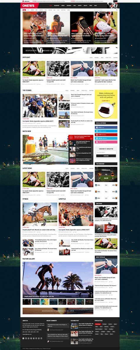 newspaper theme mobile onews modern newspaper magazine wordpress theme