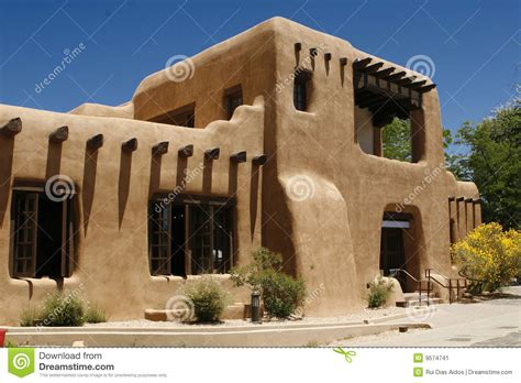 Adobe Style House Plans pueblo style barred dormers stock image image 9574741