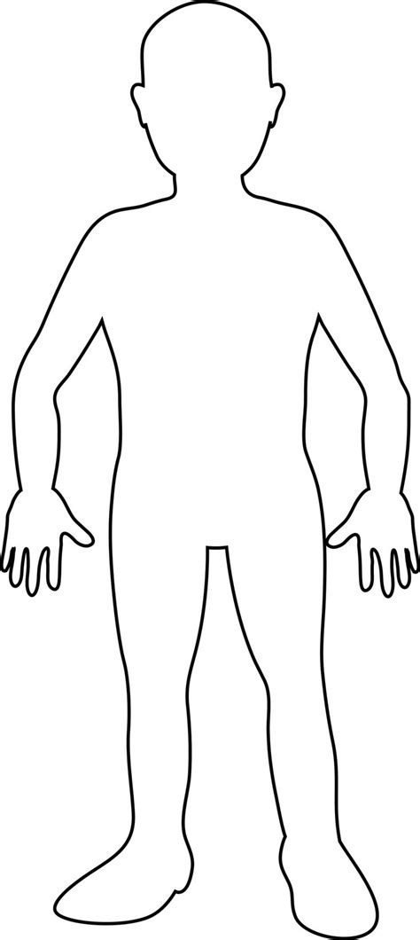 Printable Human Body Outline For Kids 565 Jpg 1081 215 2418 Human Printable