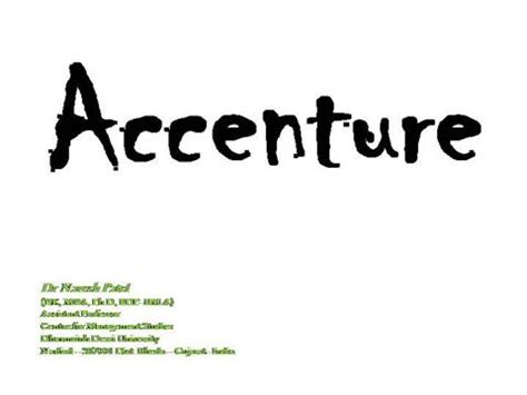 Mba Marketing In Accenture by Accenture 2 Authorstream