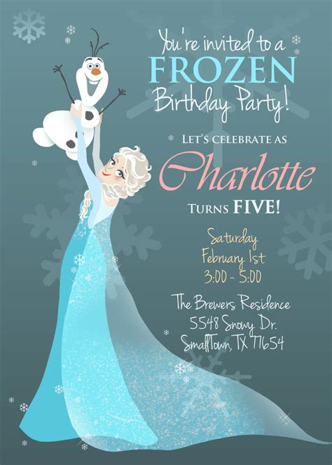frozen printable etsy frozen illustrated invitation printable pdf by
