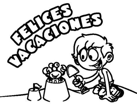 imagenes para pintar vacaciones invierno dibujo de felices vacaciones para colorear dibujos net