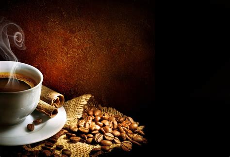coffee sack wallpaper coffee cup steam foam saucer coffee beans cinnamon sticks