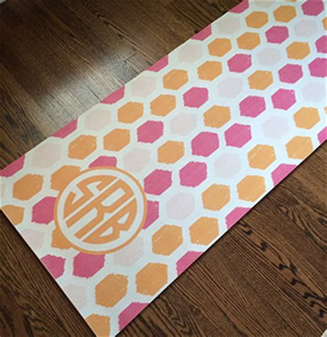 design photo mat honeycomb yoga mat