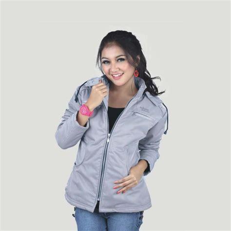 Jaket Parasut Shopee 0rc11 jaket gunung outdoor tebal abu ct wanita cewek