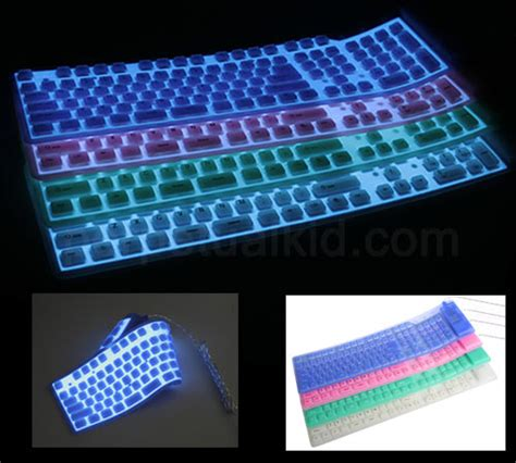 glow in the paint keyboard keyboard cover for eee pcs