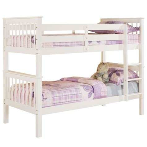 white bunk beds devon white bunk bed next day select day delivery