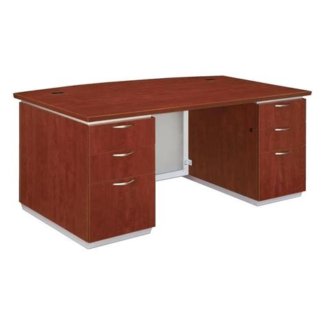 Of Front Desk Executive by Flexsteel Pimlico Laminate Executive Bow Front Desk Flat