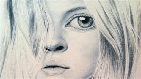 Drawing Big coloured pencil sketches of great drawing