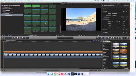 final cut pro time lapse how to create a time lapse in final cut pro x tutorial