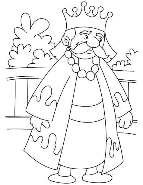 king on throne coloring page sketch coloring page king