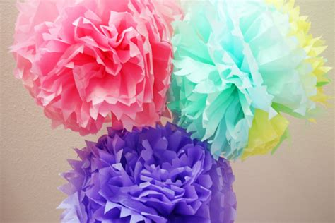beautiful diy tissue paper pom pom tutorial