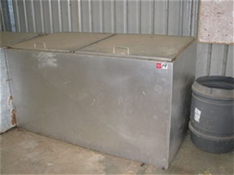 stock feed storage bin galvanised sheet metal construction