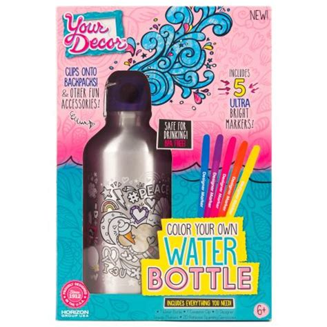 Decorate Water Bottle by Your Decor Water Bottle Decorating Activity Kit By Horizon